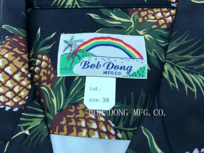 Image 4 - Bob Dong Mens Vintage Hawaiian Aloha Pineapple Floral Print 