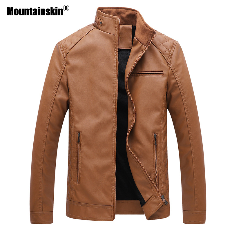 Mens Leather Jacket Brand High Quality Outerwear 1