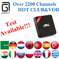 H96Plus S905 + Power IPTV del Androide 5.1 2 GB/16 GB Árabe Francés Alemania Países Bajos Portugal Italiano Adultos xxx Hotclub Europa IPTV