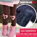 Inverno leggings das meninas do bebê, crianças roupas calças quentes das crianças calças de algodão casuais de esportes, próximo lassie calças grossas para as crianças