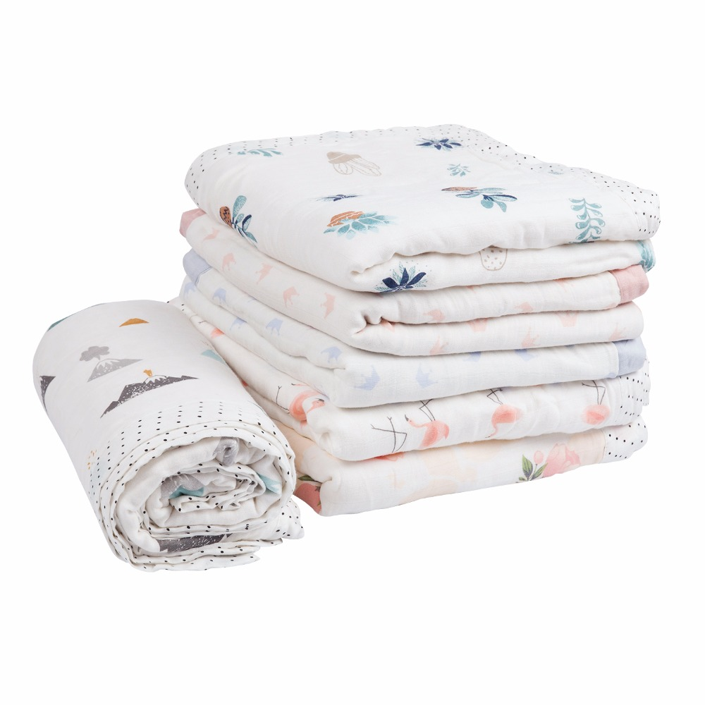 Wiegdeken Winter Muslin Bamboo Cotton Newborn Swaddles Soft Baby Deken Gauze Infant Winter Blankets Wrap Children Big Quilt Swaddleme Thicken