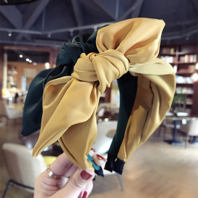 Haimeikang Hairband Rabbit Ears Cloth Bow Headband Women Girls Hair Head Hoop Bands Accessories For Girl Hairbands Headwear