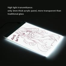 Портативный ультра-тонкий A4 светодиодный светильник копировальный Рисунок доска для рисования трафарет сенсорная анимация копия Трассировка коврик светильник коробка планшет USB