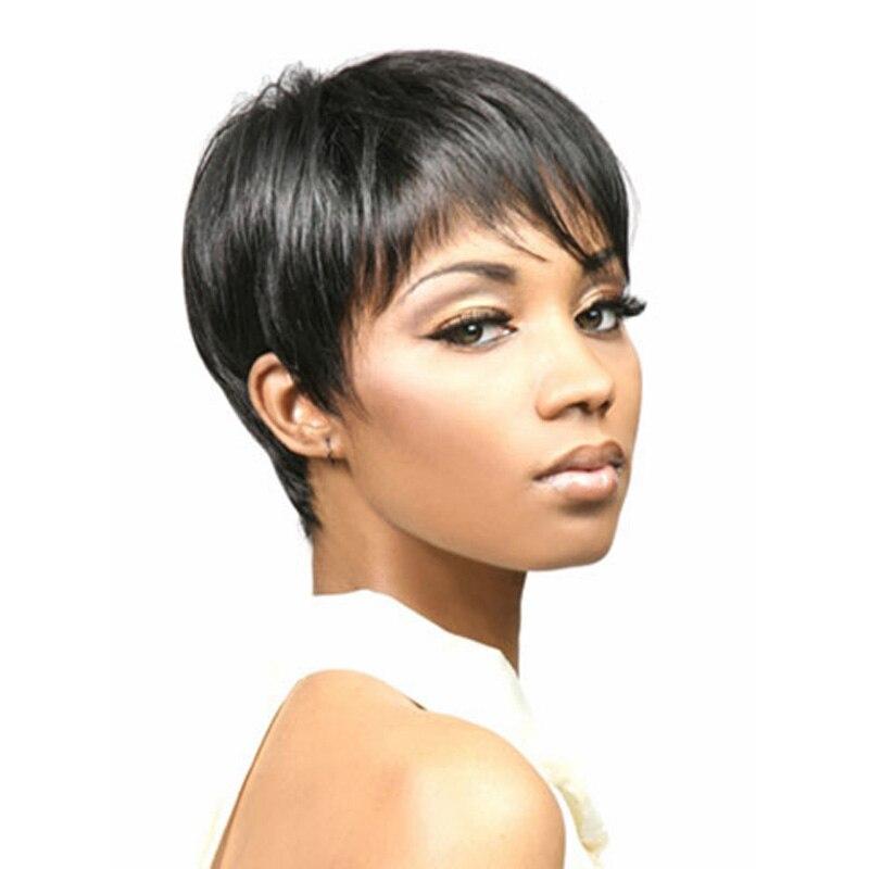 Medusa Hair Products Afro Boy Cut Short Pixie Wigs For Black Women
