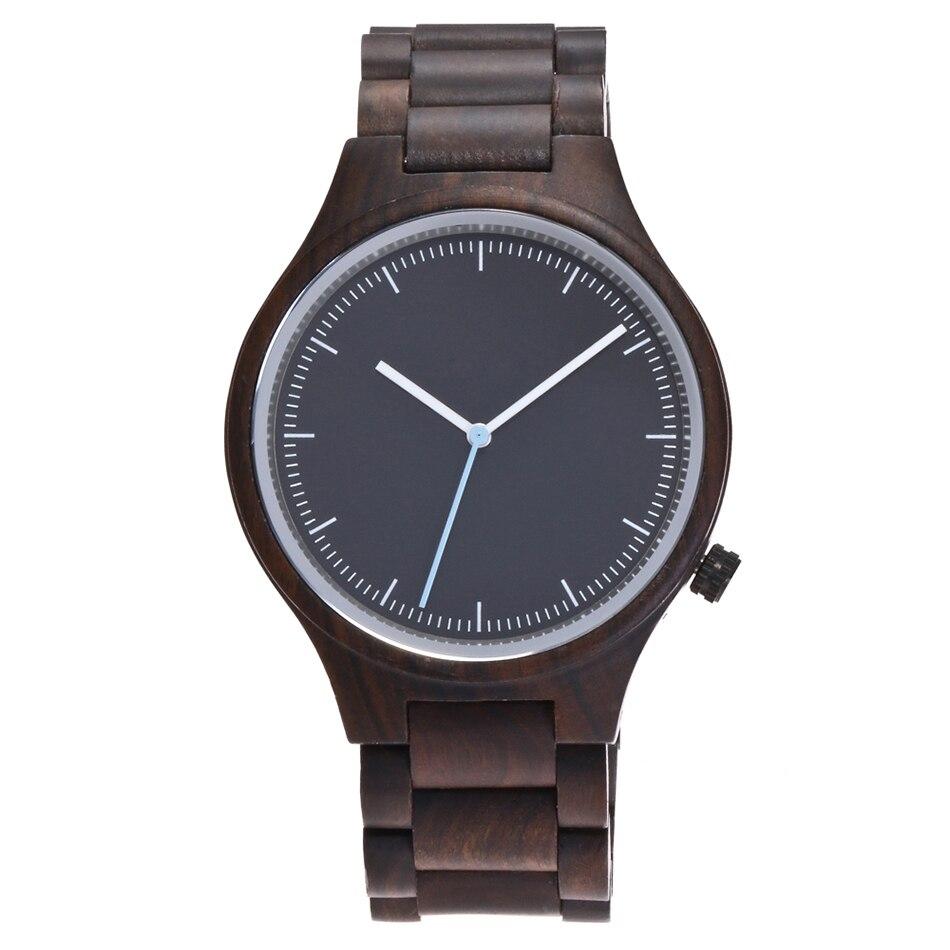 Wood watch men quartz