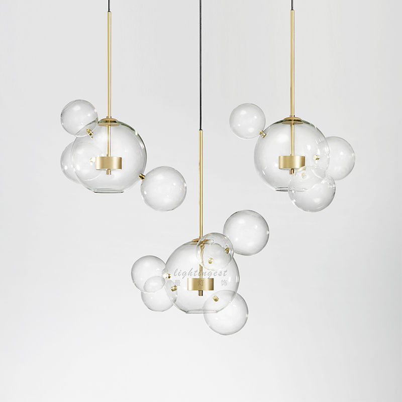 glass chandelier pendants Modern living room restaurant table lamp  pendant personality creativity