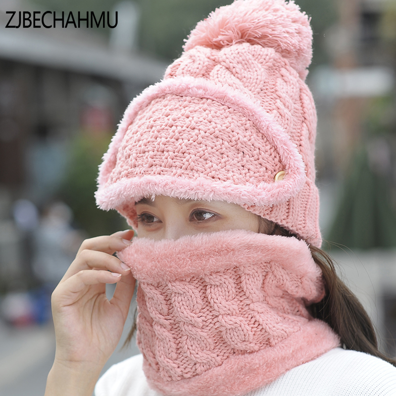 New Winter Beanies Mens Scarf Knitted Hat Caps Mask Gorras Bonnet Warm Baggy Winter Hats For Men Women Skullies Beanies Hats new gorros 2017 fashion casual men skullies beanies winter hats keep warm women knitted stripe hat warm baggy balaclava caps