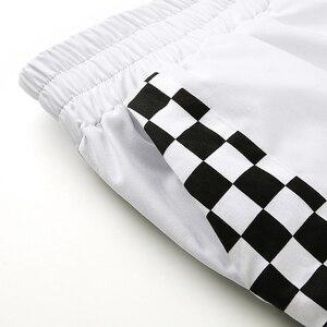 Image 4 - Weekeep pantalones de cuadros de cintura alta para mujer, ropa de calle de moda, pantalones de retazos a cuadros, pantalones de pitillo con cintura elástica