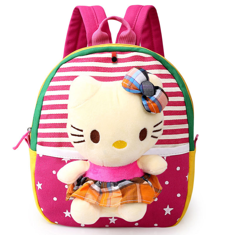 Cute Plush Bag Baby Boys Preschool Bags Little Children's Backpacks Kindergarten School Bags For Girls Kids Satchel Plush Dolls