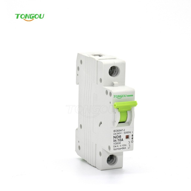 TOMC7 1P 10 Amp AC Circuit Breaker Short Protective MCB With Good Quality