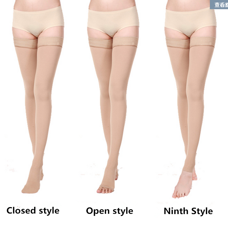 817d90195 medical Gradient Compression Thigh High Stockings for varices Varicose  stretch veins Stovepipe anti embolism stockings-in Hiking Socks from Sports  ...