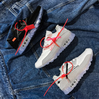2018 New Air Authentic OFF White Men's and Women's Running Shoes GYM Sports Fashion Sneakers Male Jogging 97 Shoe Wave Walking
