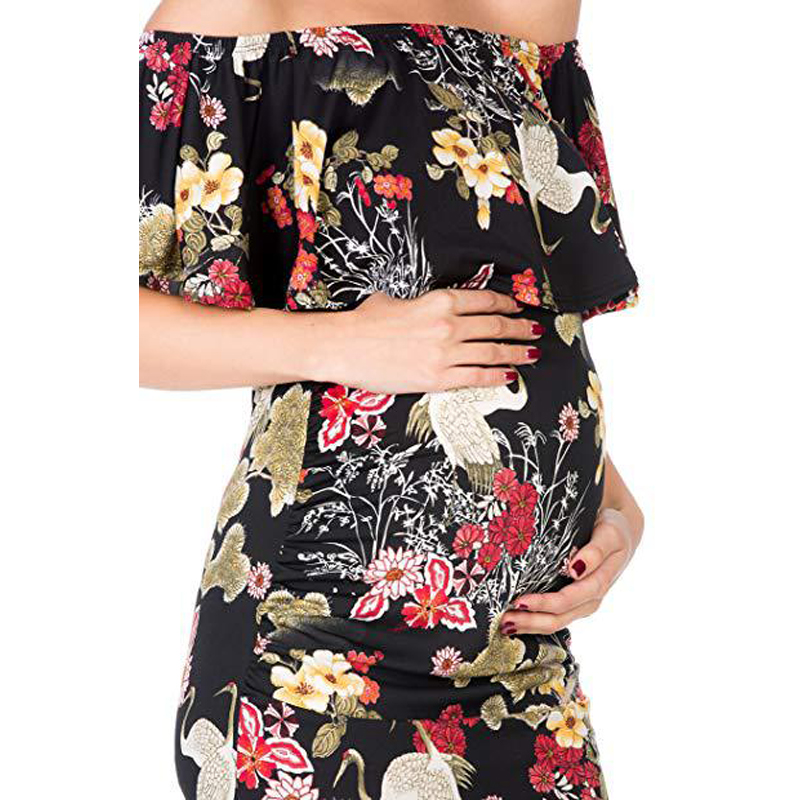 Eaboutique Dress Pregnant Strapless Maternity Dress With A Cropped Neck That Covers The Hip Nursing Dress Q03013 Dresses Aliexpress