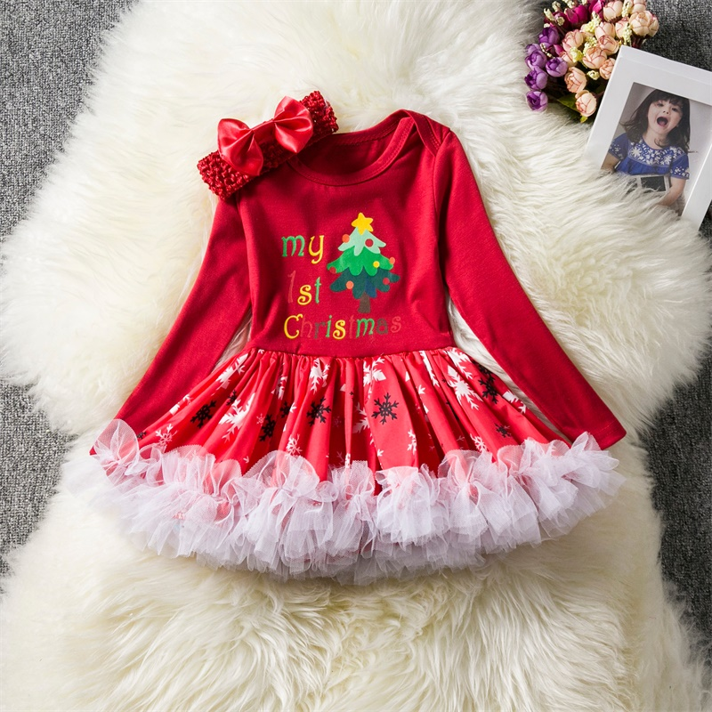 2020 Baby Girl Dress 1st Christmas Party Dresses For Girls 1 Year New Year Clothing Infant Toddler Baby Birthday Tutu Red Holiday Baptism Costume From Huangqiuning 33 97 Dhgate Com