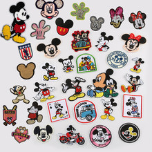 1pcs parches bordados iron on mickey patches Hoodies Decor Appliques Bag Jacket cartoon duck Patch For Clothing Patchwork(China)