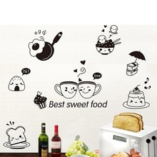 DIY Home Western Food Wall Stickers Living Room Decals Decor Kitchen Fruit Window Art Self-Adhesive Waterproof Stickers H1
