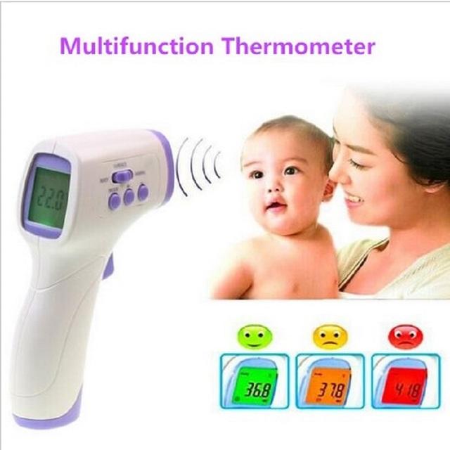 Ventas calientes! estándar Medical alta calidad de infrarrojos exacto del bebé termómetros bebé de cuidado para adultos LCD oídos electrónicos termómetros