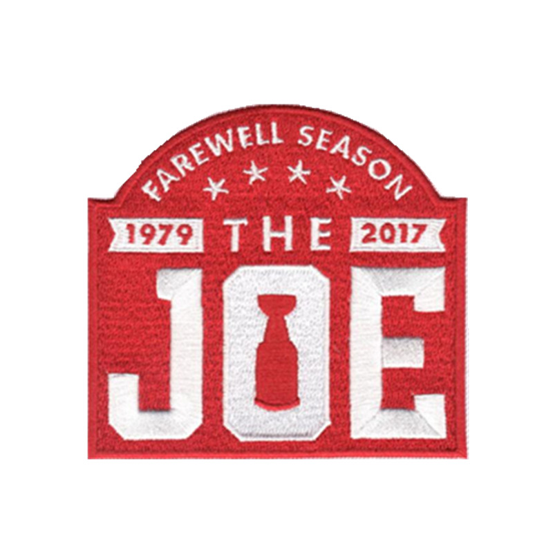 "2017 Detroit Red Wings Arena Final Farewell Season ""The Joe"" Jersey 50%Embroidered iron on or sew on patch(China (Mainland))"
