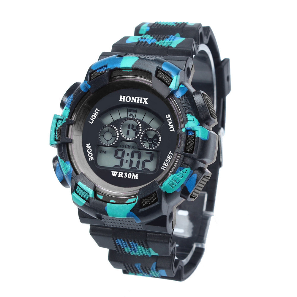 Fashion Cool Kids Watchs Subtle Outdoor Multifunction Waterproof Kid Children Boy's Sports Electronic Watches Montre Enfant #