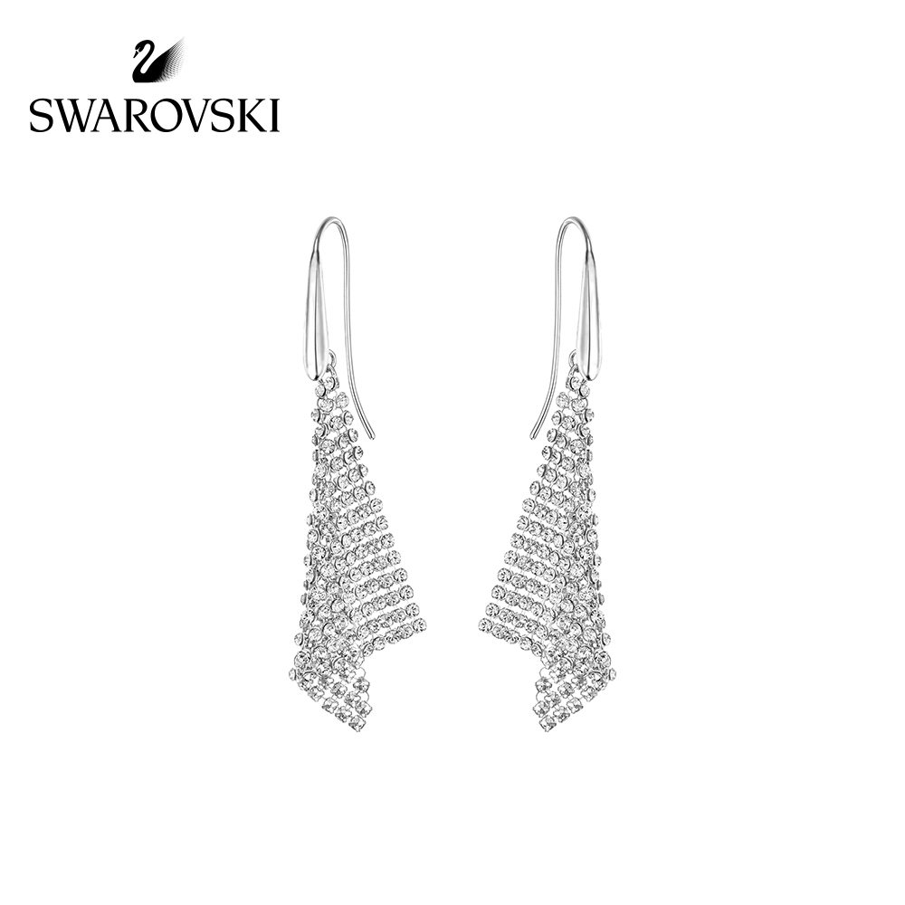 Original Genuine Swarovski FIT Ladies Temperament earrings female triangle shape gold crystal texture earrings 5143060Original Genuine Swarovski FIT Ladies Temperament earrings female triangle shape gold crystal texture earrings 5143060