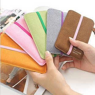 High Fashion Pure colour Cell Phone Case,MP4 bag,Korean version, minimalist design, various color for your choice