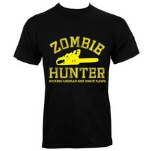 Zombie Hunter Men's Black T-shirt Men'S T-Shirts Summer Style Fashion Swag Men T Shirts Summer 2018 Short Sleeve Plus Size