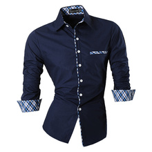 2018 Spring Autumn Features Shirts Men Casual Jeans Shirt New Arrival Long Sleeve Casual Slim Fit Male Shirts Z020