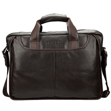New Fashion Brand Genuine Leather Men's Bag Briefcase Business Men's Travel Bags Soft Black Brown Men Shoulder Crossbody Handbag