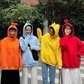 Hoodies Frauen Taschen Freizeit Kawaii Feste Allgleiches Langen Ärmeln Tops Frauen Koreanische Harajuku Hoodie Trendy Nette Sweatshirts