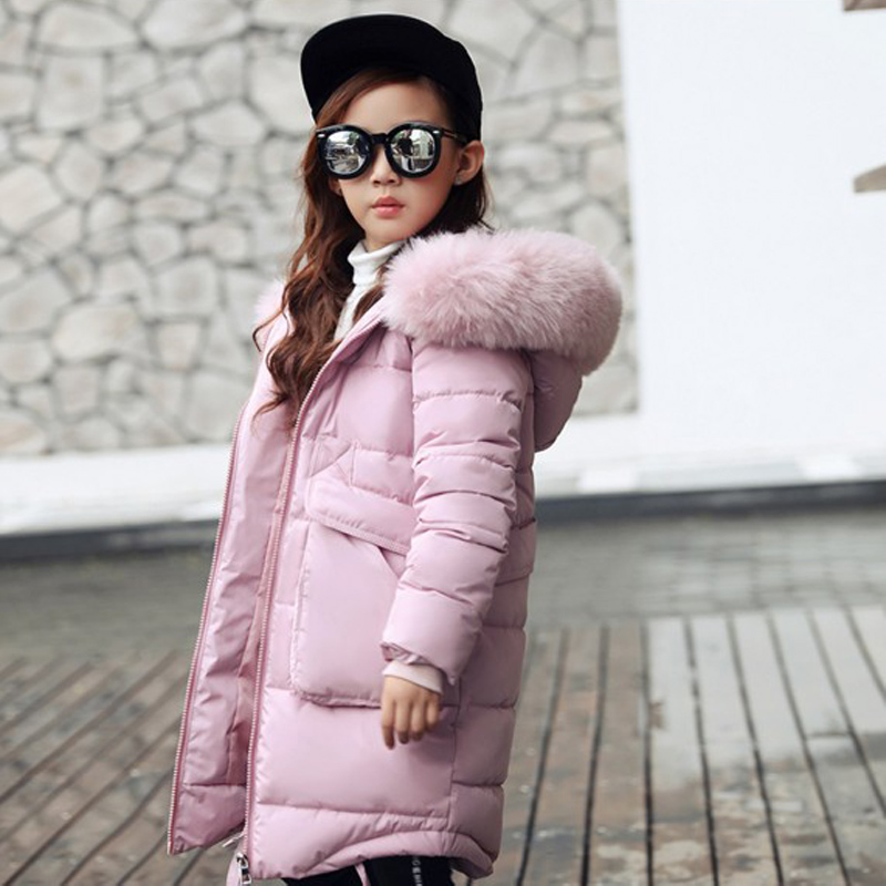2018 New Girls Long Padded Jacket Children Winter Coat Kids Warm Thickening Hooded down Coats For Teenage Outwear 2018 new girls long padded jacket kids winter coat kids warm thickening hooded down coats for teenage outwear 30 winter coat 12