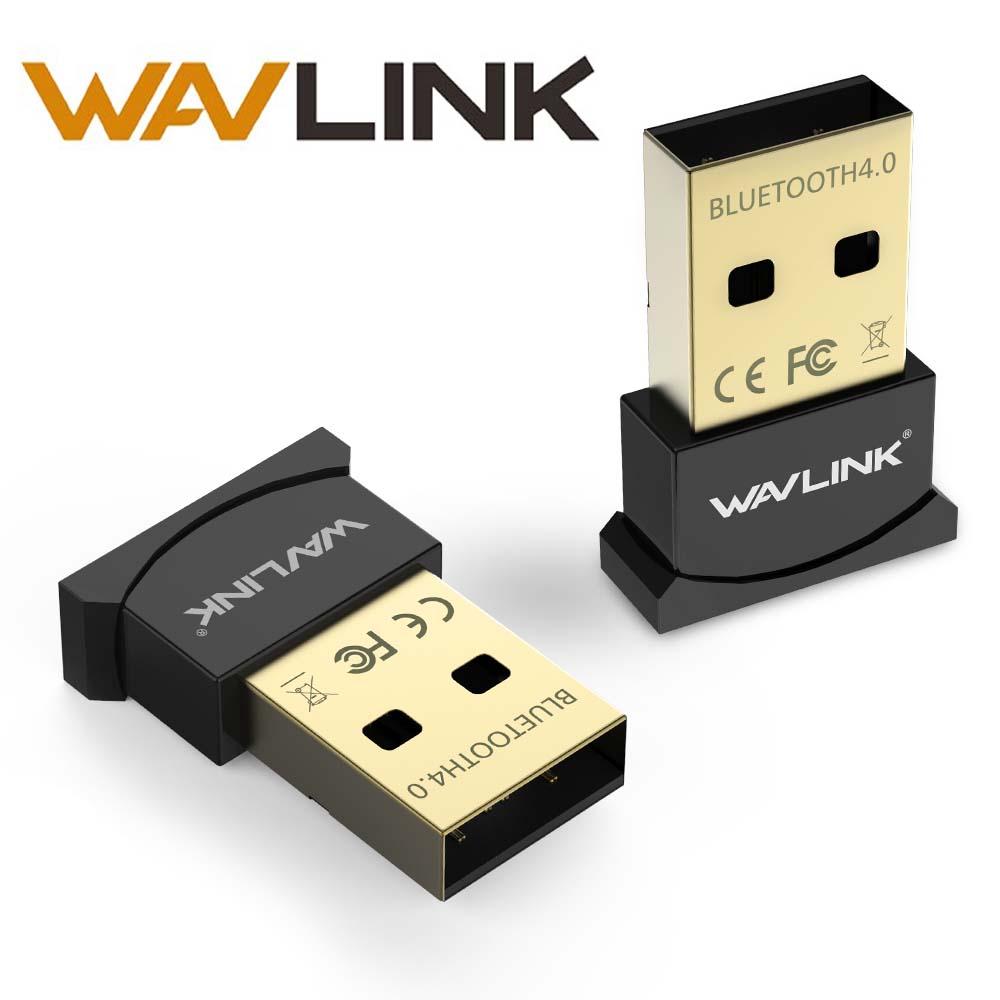 Wavlink Mini Usb Bluetooth адаптер V4.0 ключ Low Energy USB адаптер позолоченный штекер и Play Micro ключ для портативных ПК Desktop