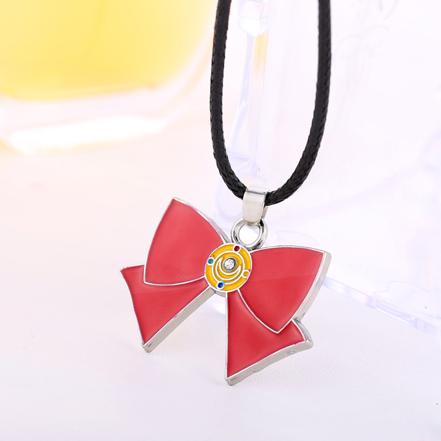 sailor moon chain necklace bowknot Necklace Metal Charm Pendant Cosplay Accessories Jewelry best friends