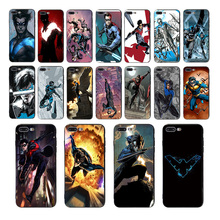 Comics Batman Nightwing patterned Soft silicone phone case for iphone cover 7 8 6s 6 plus Coque x xs max xr 5s 5 se TPU shell