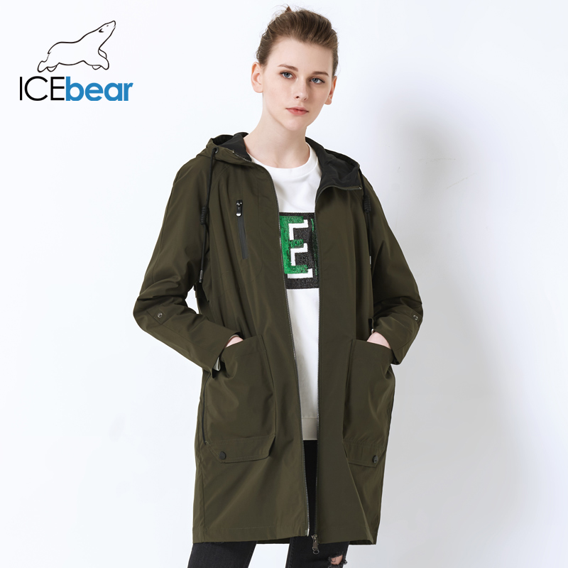 ICEbear 2019 Spring   Trench   Coat for Women new spring Fashion Designer Brand Classic high quality   Trench   Coat GWF18006D
