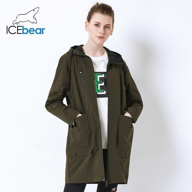 ICEbear 2019 Весна пальто для женщин Новинка весны модные дизайнерские брендовые Классические высокое качество Тренч GWF18006D