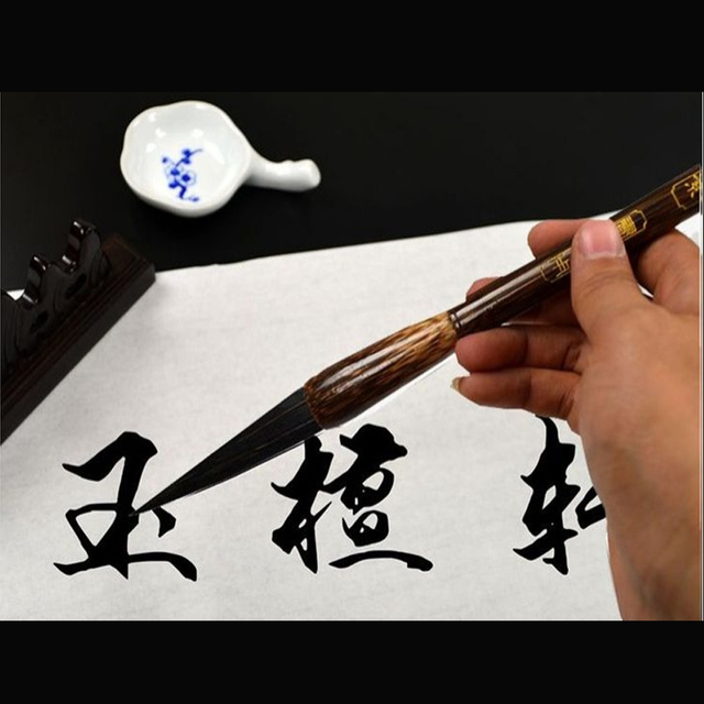 Top Orso Capelli Calligrafia Penna Della Spazzola Dura Più Grande Regualr Script Pittura Pennello TAI YI HONG Official Store