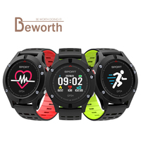 F5 GPS Smart Watch IP67 Waterproof Heart Rate Monitor Multi Sport Mode OLED Altimeter Bluetooth Fitness