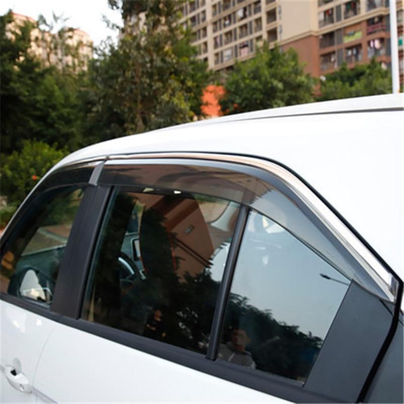 Car Window Rain Shield Shelters Cover ABS Sun Window Visor For Mitsubishi Eclipse Cross 2018 2019 Car stylingCar Window Rain Shield Shelters Cover ABS Sun Window Visor For Mitsubishi Eclipse Cross 2018 2019 Car styling