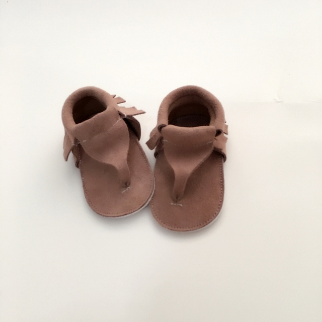 Handmade Suede Brown First Walkers Genuine Leather Infant shoe