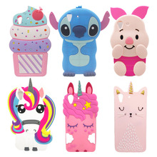цена на For Huawei Y6 II Case Silicone 3D Cute Unicorn Cat Rabbit Pig Cartoon Case For Huawei Y6II Y6 2 Soft Phone Protective Back Cover