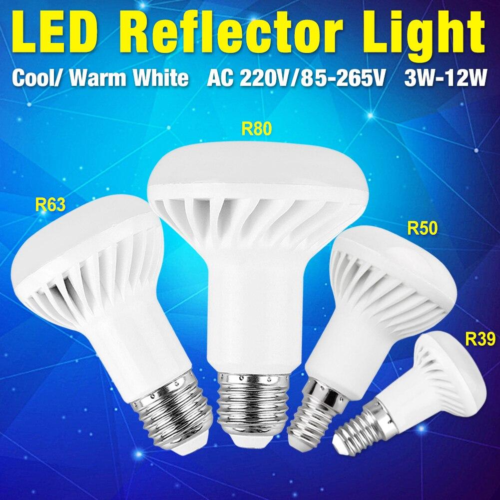 R39 R50 R80 R63 lámpara LED ahorro de energía perla REFLECTOR bombilla corredor AC220V 85-265V E14 E27 3W 5W 7W 9W 12W para hoteles iluminación LUCKYLED luz LED moderna de pared espejo de Baño Luz 9W 12W AC 90-265V lámpara de pared impermeable