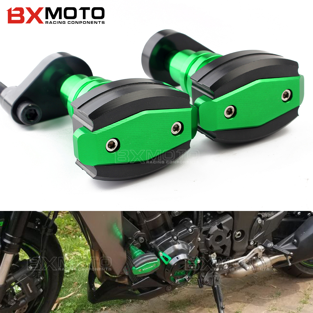2x Falling Protectors Motorcycle CNC Aluminum Left&Right Frame Slider Anti Crash Caps protector for kawasaki Z1000 Z 1000 2017