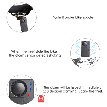 Free Shipping Black 1 Set Remote Control Bicycle Electromobile Security Vibration Warning Alarm System Bike Anti Lost Reminder 1