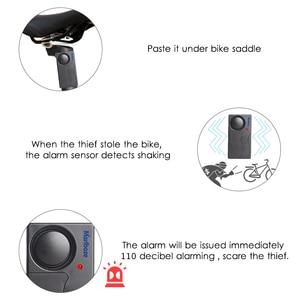 Image 2 - Free Shipping Black 1 Set Remote Control Bicycle Electromobile Security Vibration Warning Alarm System Bike Anti Lost Reminder