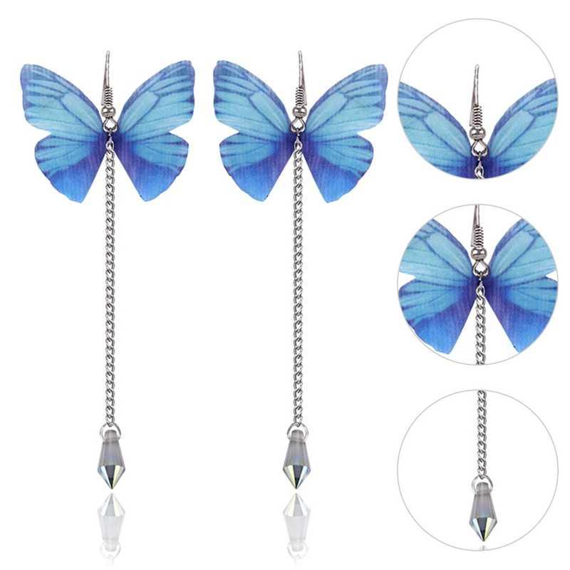 2018 Baru Panjang Kupu-kupu Anting-Anting untuk Wanita Mutiara Halus Lucu Anting-Anting Korea Fashion Perhiasan Anggun Joker Wanita Aksesoris