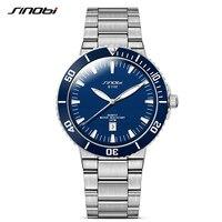 SINOBI Sports Men's Multifunction Stainless Steel Watches Waterproof Male Quartz Watches Brand Swiss Craft relogio masculino