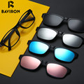 BAVIRON TR90 Очки Съемный Близорукость Поляризованные Линзы Для Чтения Компьютер Радиационной Защиты Очки Один Клип B2216JP