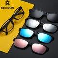BAVIRON TR90 Gafas Extraíble Lentes Para Leer Computer Protección Radiológica Miopía gafas de Sol Polarizadas Un Clip B2216JP