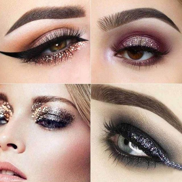 Smoky/Warm Color Eye Makeup Matte Glitter Eyeshadow Diamond Shimmer Eye Primer Luminous Eye Shadow Make Up Palette Sparkling Set 4