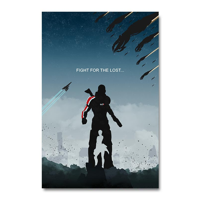 Mass Effect 2 3 4 Game Silk Poster Wall Art Print 12x18 24x36 inch Decorative Pictures Wallpaper Living Room Decoration 011(China)